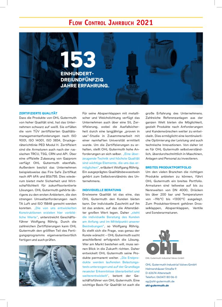 thumbnail of OHL Gutermuth Industrial Valves GmbH